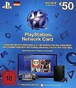 PSN Guthaben-Card 50 € für Playstation 3 [PS3] oder Playstation 4 [PS4]
