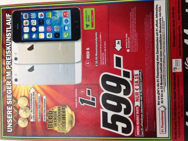 iPhone 5s 16GB in allen Farben für 599€