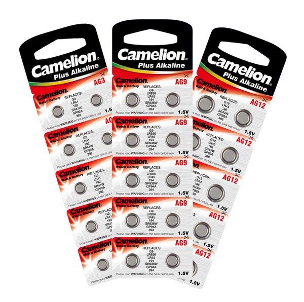 10 x Knopfzelle Uhrenbatterie Camelion-Batterien Neu