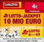 Wieder da! 4€ Cashback bei Qipu für Registrierung + Spiel bei Lotto24 (mind. 1,60€) Tipp24 ? Lotto24