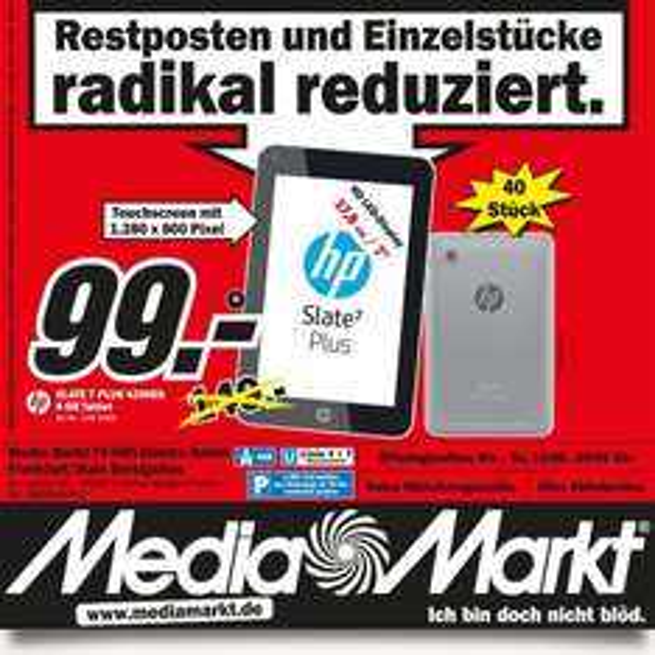 HP Slate 7 Plus 4200EG 8 GB Tablet [Lokal MM]