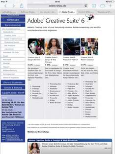 Adobe Creative Suite Standard - 279€ / Master Collection - 679€ - FÜR ALLE NICHTSTUDENTEN!