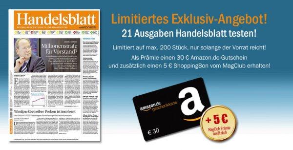 21x Handelsblatt rechnerisch gratis  (limitiert 200 Stück)