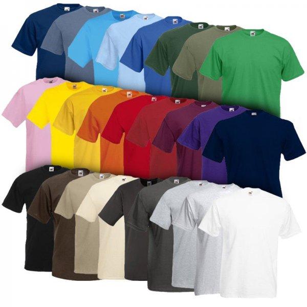 Fruit of the Loom T-Shirt im 10er Pack verschiedene Farben (kostenl. Versand)