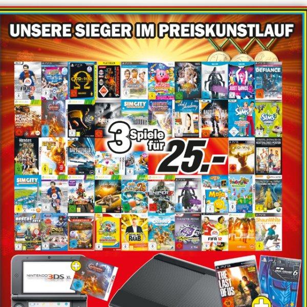 3 für 25,- [games]MediaMarkt Wiesbaden