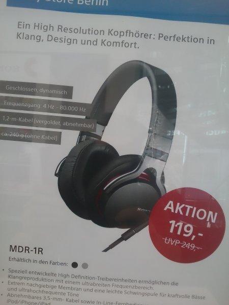 [Berlin] hochwertiger Sony Kopfhörer MDR-1R für 101,15 Euro (idealo: ab 159,-)