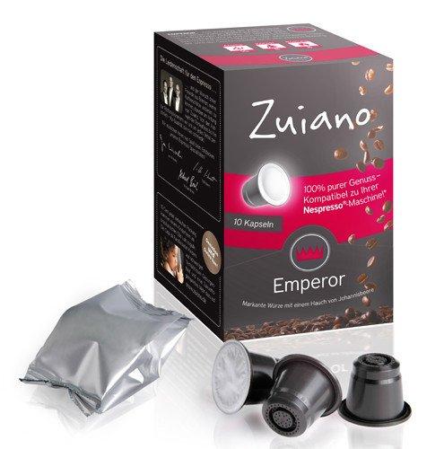 120 ZUIANO Emperor Kapseln für Nespressomaschinen für 25€ @Groupsales