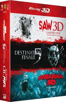 Saw 7 + Final Destination 5 + Piranha [Blu-ray 3D] für 30,79€ @Amazon.fr