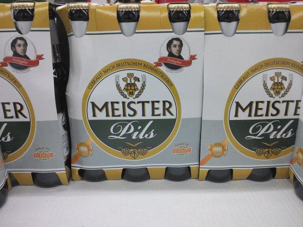 [ Lokal ] Globus Sankt Wendel Getränkecenter Sixpack Bier Meister Pils Festtagsbier