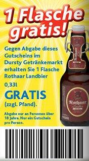 [LOKAL NRW/RP/HES] Flasche(n) Rothaar Landbier GRATIS bei Dursty