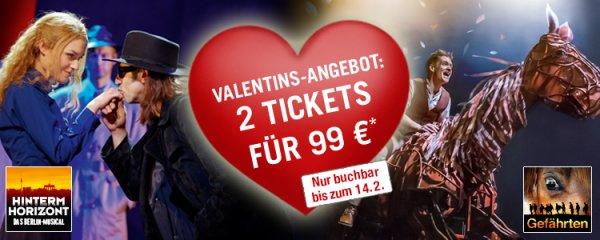 Musical Berlin, Hamburg, Stuttgart, Oberhausen 2 Tickets für 99€ zzgl. Gebühren