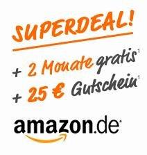 Simyo Allnet-Flat 2 Monate lang für 1€ testen + 25€ Amazon Gutschein