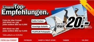 [Media-Markt.de] Foto Aktion: 500 Fotos 10x15cm auf Fujifilm Fotopapier ab 4 Cent/Stk