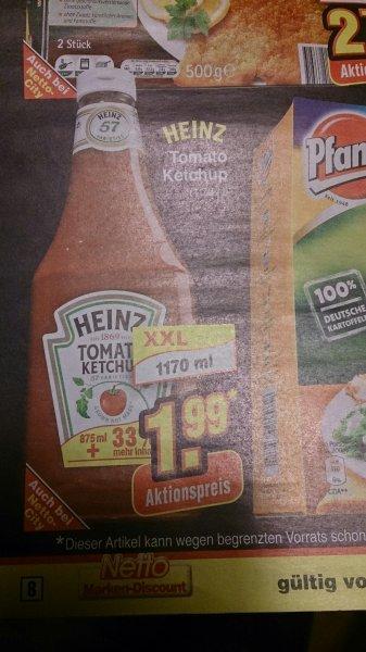 (Netto ohne Hund) Heinz Ketchup für 1.99 € in der 1170 ml ab dem 17.02