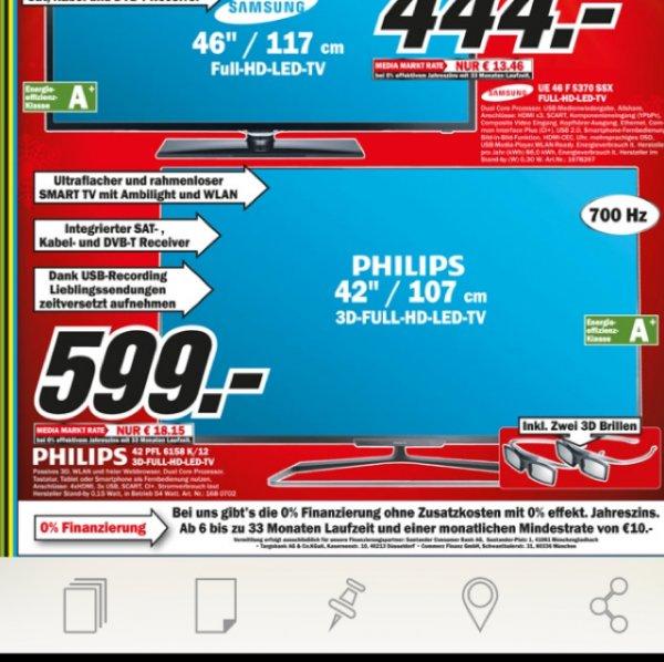 Lokal MM Weiterstadt Philips 42pfl6158k 200€ unter idealo!!!