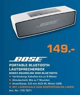 [Lokal Saturn Siegburg, Sankt Augustin, Troisdorf] Bose Soundlink Mini für 149€!