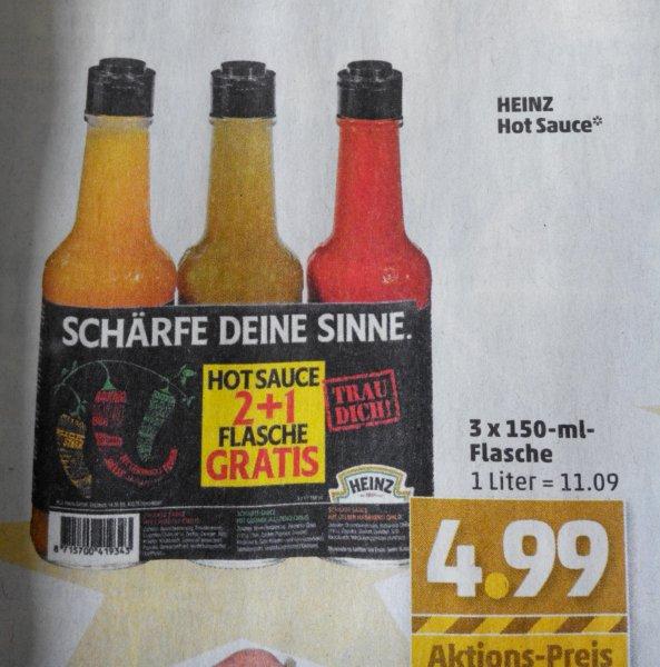 [PENNY offline] Heinz Hot Sauce 3er Pack für 4,99 €