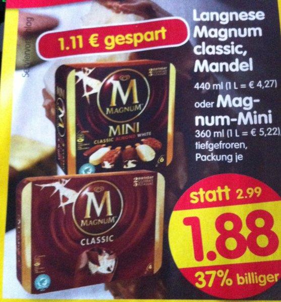 Langnese Magnum Classic, Mandel oder Mini 37% billiger! Treff 3000 20.02 bis 22.02.14