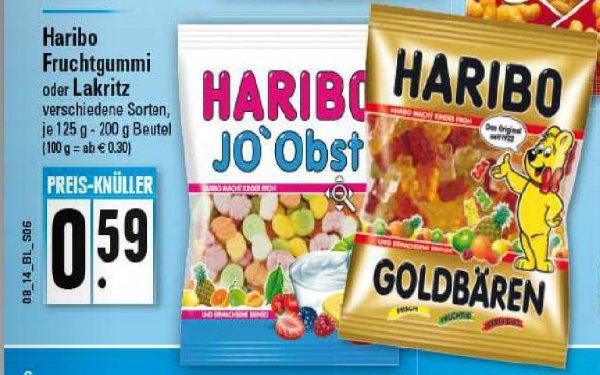 (Bundesweit) Edeka Haribo Fruchtgummi oder Lakritz 0,59€ je 125 g - 200 g Beutel