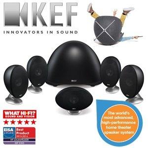 KEF E-305 High-End 5.1 Heimkino-Lautsprechersystem schwarz für 708,80€; Preisvergleich 968€ (idealo)