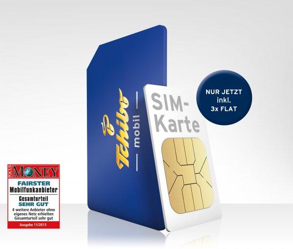 Tchibo Smartphone-Tarif 3x Flat & 200 Freiminuten 9,95 € (o2-Netz)