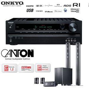 Onkyo TX-SR309 3D-Heimkinoreceiver und Canton CD 1000.2 für 609€
