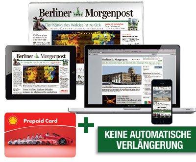 [Lokal Berlin / Brandenburg]1 Monat Morgenpost + 15 €-Shell-Gutschein nur 18,90