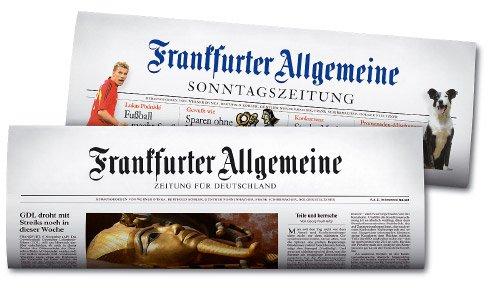 Frankfurter Allgemeine Sonntagszeitung 5 Monate kostenlos und selbstkündigend für Studenten!