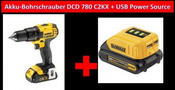 Akku-Schrauber + innovatives Universal-Ladegerät von der Handwerkermarke Dewalt