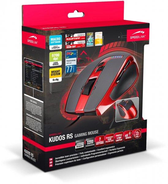 """Speedlink™ - Gaming Laser-Maus """"Kudos RS"""" (5600dpi,9 Tasten) [B-Ware] für €24,99 [@MeinPaket.de]"""