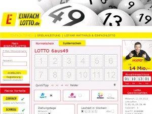 Kostenloses Tippfeld + 15 cent Guthabenrest bei Einfachlotto.de für Neukunden/Bestandskunden