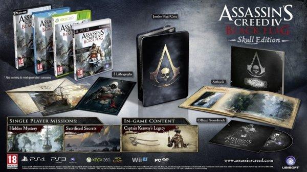 Assassin's Creed 4: Black Flag Skull Edition PS3 für 37,90 EUR inkl. Versand