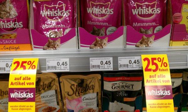[Lokal Köln Mülheim] 25% + 10% auf alle Whiskas Produkte bei Rossmann