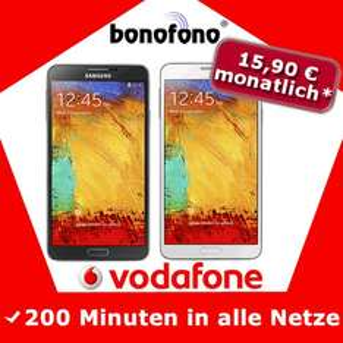 Samsung Galaxy Note 3 mit 2 Handyverträgen für insgesamt 441,58 EUR