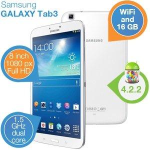 Samsung Galaxy Tab 3 8.0 Wifi 16GB für 189,85€ (+5,95€)