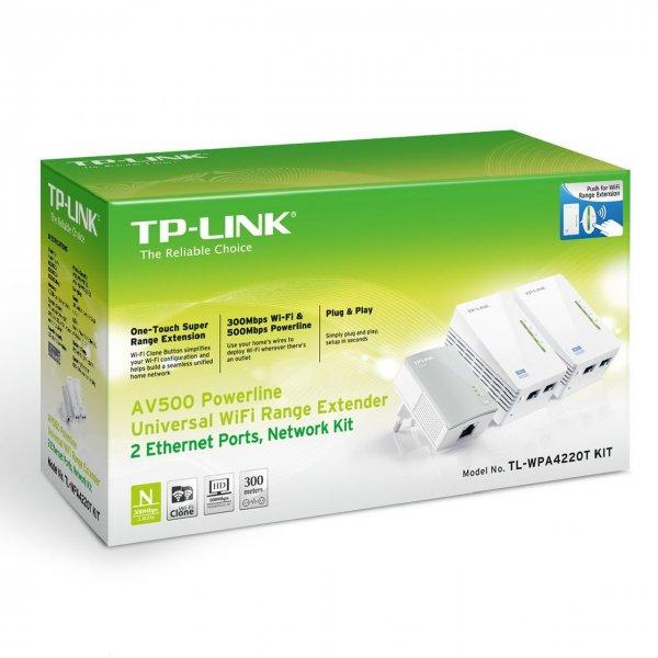 """TP-Link™ - 3er Set WLAN-N Powerline-Netzwerkadapter """"TL-WPA4220TKIT"""" (500/300 Mbps) für €79.- [@Amazon.de]"""