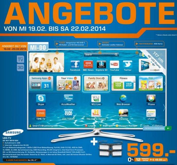 Samsung UE46F6510 für 599€ Lokal [Saturn Gelsenkirchen]