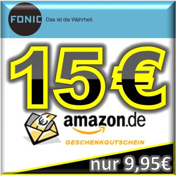 Fonic Prepaid Simkarte - 10€ Guthaben - 15€ Amazon Gutschein