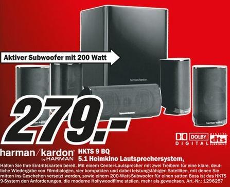 [lokal] Harman Kardon HKTS 9 QB 5.1 Lautsprechersystem - Media Markt Bochum