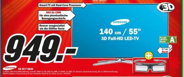 [Lokal MM Bochum] Samsung UE55F6640 949€ idealo 1199€
