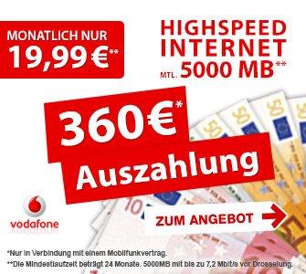 Vodafone Internet Flat (5GB) Mit Effektiv gewinn von 14,16 für Junge Leute! Ansonsten 4,41€