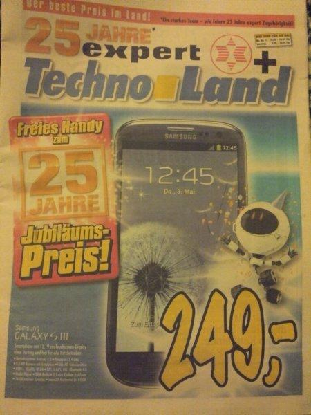 Lokal!  Samsung Galaxy S3 I9300  für   249€   Technoland Deizisau (Stuttgart)
