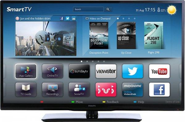 Philips 42PFL3218K, 107 cm (42 Zoll), 1080p (Full HD) LED DVB-T/C/S/S2 Smart TV Wlan