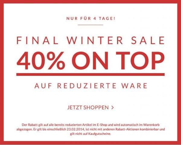 Tom Tailor Final Winter Sale - 40% auf reduzierte Ware