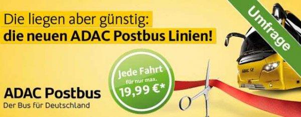 [Coupies] 50 Cent für Umfrage ADAC-Postbus