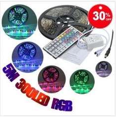 5M RGB LED Strip Lights Waterproof 12V 300led Strip für 10,48€ @banggood.com