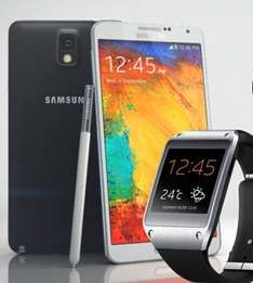 [BASE all-in plus / 2GB Volumen] Samsung Galaxy Note 3 32GB + Galaxy Gear V700 monatlich nur 6,55€ bzw. 10,59€(Normalos)