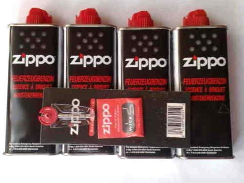[UPDATE2]Original Zippo Zubehör/Nachfüllartikel, 4x Benzin, 1x Docht, 6 Feuersteine für 9,95€ @ebay
