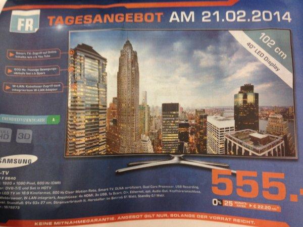 Samsung UE40F6640 Lokal Hamburg