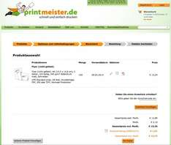 100 Flyer DIN A6 doppelseitig bunt 300g Bilderdruck matt für 9,09€ + 4,64€ DE-Versand oder 0€ bei Abholung